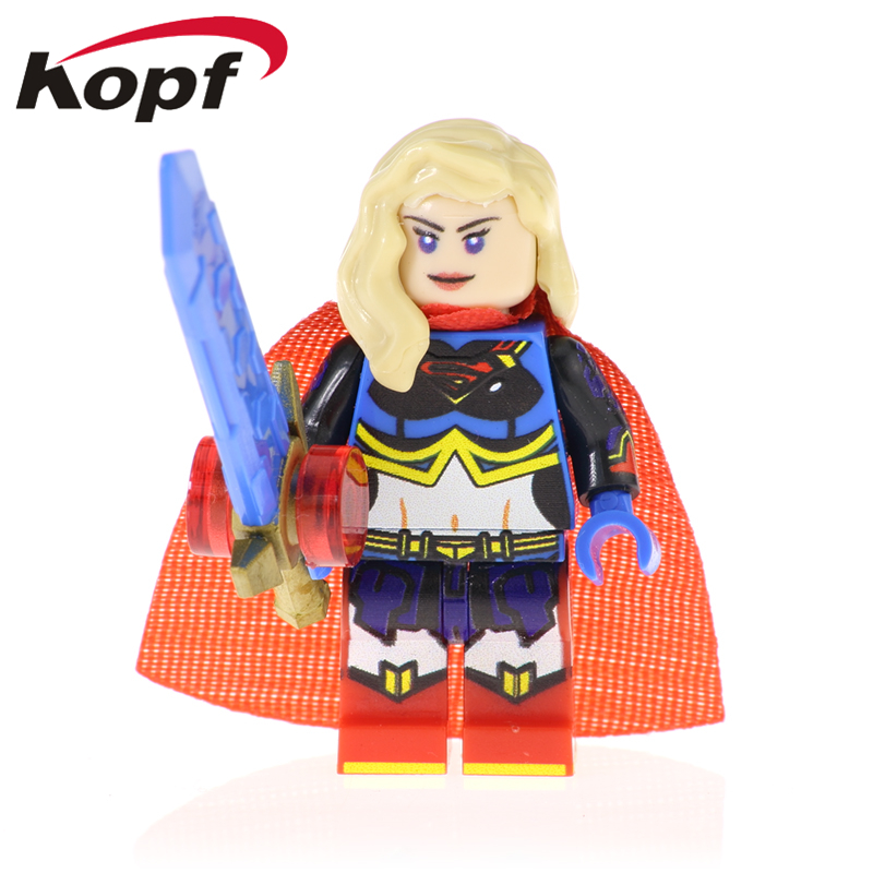 PG1339 Building Blocks Super Heroes Supergirl Robin Harley Quinn Nurse Batman Bricks Figures Model Dolls For Children Gift Toys