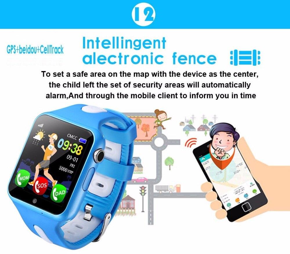 2018 nouveau suivi GPS montre pour enfants appel pour montre intelligente pour enfant avec caméra SOS localisation dispositif Tracker bébé sûr Anti-perte - 3