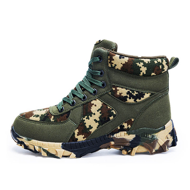 Outdoor Hiking Shoes Men Winter Tactical Military Boots Waterproof Anti-skid Mointain Trekking Sneakers Man Camo Climbing Shoes