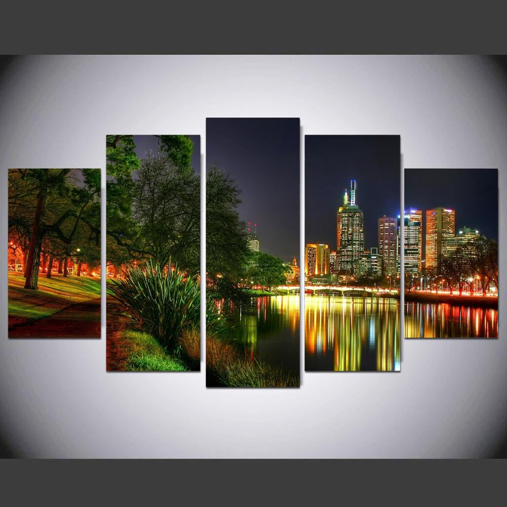 Home Decor Melbourne: HD Canvas Printing 5 Panel Framework Wall Art Melbourne At