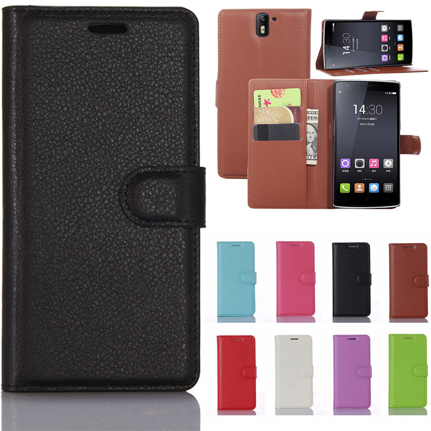 OnePlus One One Plus One Case Solid color Leather Cases Stand Wallet Photo Frame Flip Phone Cover for OnePlus 1 One Plus1 Fundas