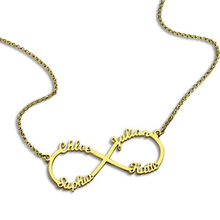 Infinity 4 Names Personalized Necklace