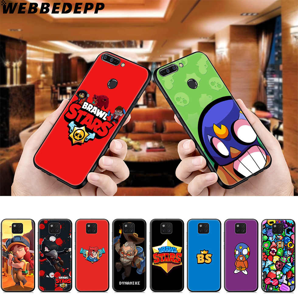 WEBBEDEPP Brawl Stars Soft Case for Huawei Mate Honor 20 6A 7A 7C 7X 8 9 9X 10 View 20 10 Lite Pro Mate 30 20 Lite Pro