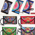 2016 Newest Ethnic original Embroidery wallet Vintage Handmade multicolour Clutches Day Clutch Purse Small Coin Bags