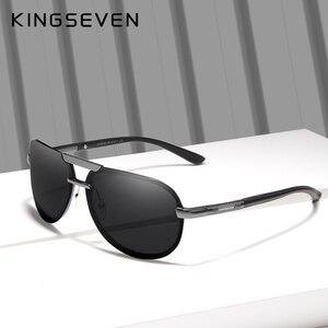 Image 5 - KINGSEVEN מותג עיצוב חדש מקוטב משקפי שמש ללא מסגרת גברים נשים נהיגה טייס מסגרת שמש משקפיים זכר Goggle UV400 Gafas דה סול
