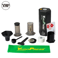 YRP YuroPress French Press Portable Espresso Coffee Maker DIY Air Stainless steel Filter Drip Pot For Home Travel