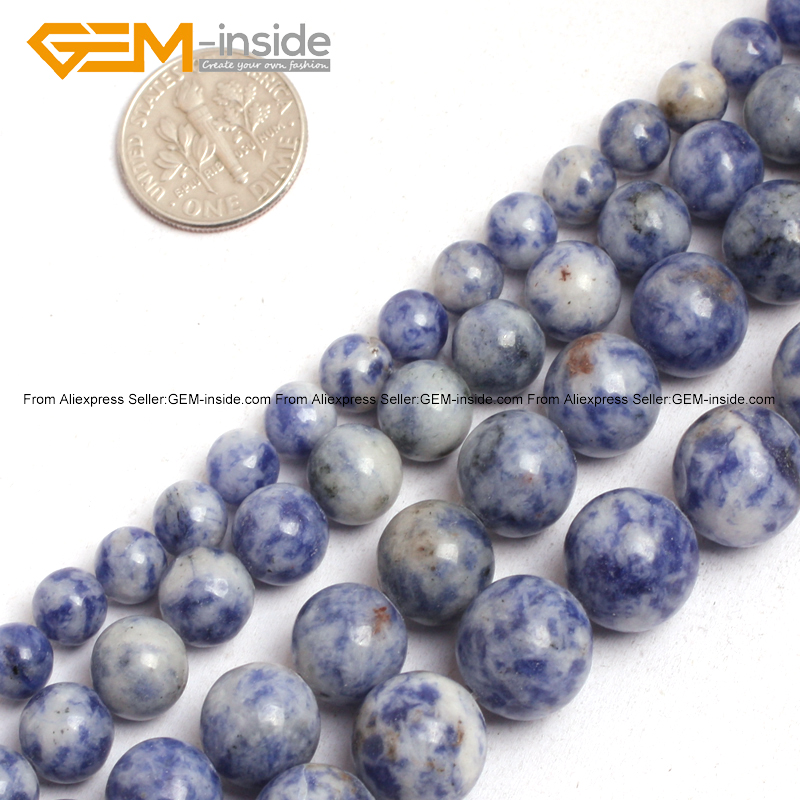 Gem-inside 6-12mm Natural Sodalite Stone Beads For Jewelry Making 15inches DIY Jewellery Christmas Gift