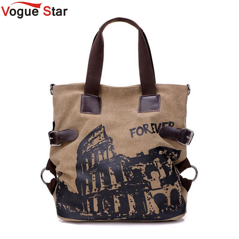 Vogue Star 2018 Hot Designer Canvas Handbags Famous Brand High Quality Women Tote Shopping Bag Printing Shoulder Bag LA374
