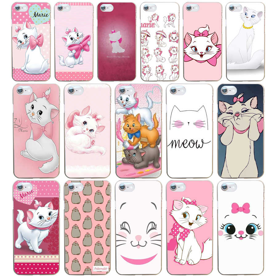 Le dessin animé AristoCats Marie chats chat etui transparent dur pour Iphone 4 4 s 5 5 s Se 6 6 s 8 Plus 7 7 Plus X