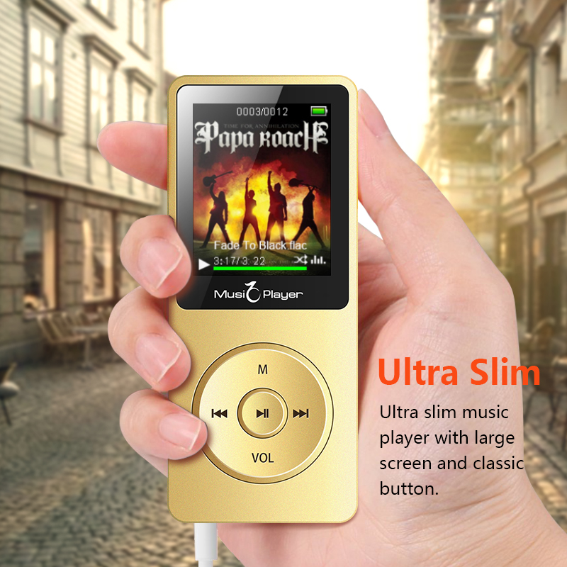 MP3 Player for kids built in Speaker and 8GB with 1 8 Inch Screen can play 100h Portable Walkman hifi fm radio slim music player in HiFi Players from Consumer Electronics