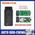 Preço de atacado V1.59 com PIC18F458 Top vendendo opcom op com ferramenta de auto diagostic para Op --- el op-com super scanner Em estoque