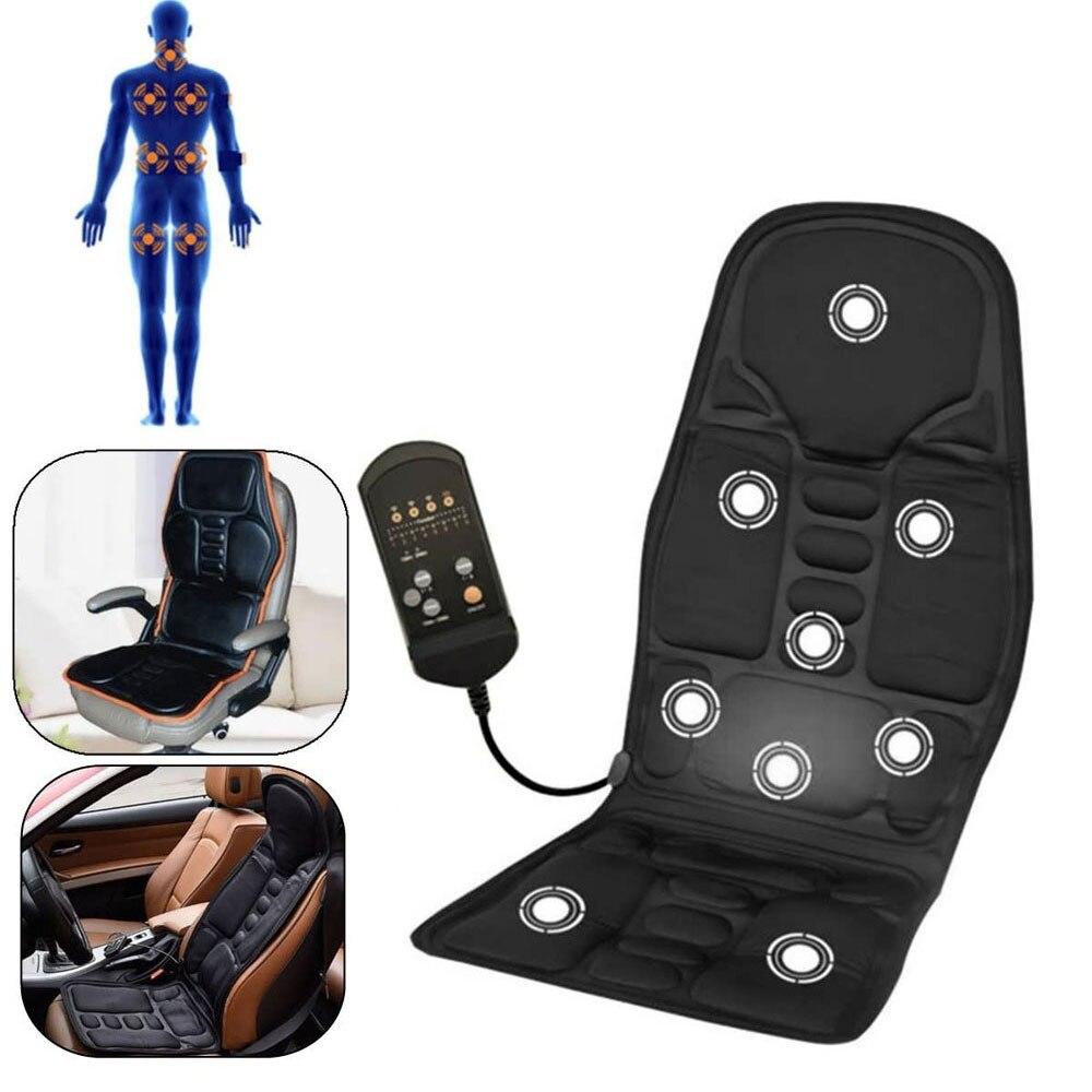 Portable Seat Massage Cushion Heat Pad Massager Chair Massage Seat Vibrator Back Neck Cushion For leg Waist Body Massage цена