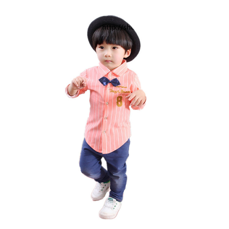 2019 new baby boy clothes suit The spring of the long sleeve shirt children trouser 1-2-3-4