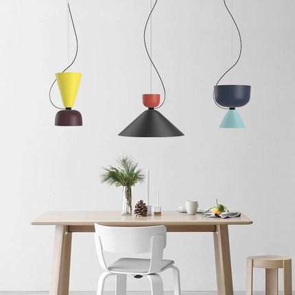 DIY Colorful LED Pendant Lights Iron Modern Pendant Lamp Creative Hanging Lamp Fixtures For Home Lightings Lamparas Colgantes colorful nordic led pendant lights modern simple pendant lamp creative hanglamp fixtures for home lightings lamparas colgantes