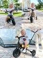 Paseo en juguetes bebé niños triciclo bicicleta plegable Scooter de niños