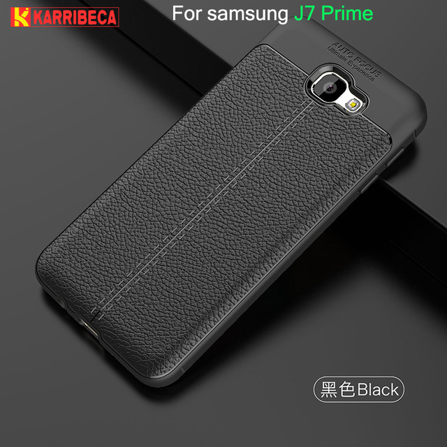 best website 64121 b3f44 US $5.89 |Litchi strip silicone case for samsung galaxy J7 Prime funda  hoesje lychee leather pattern tpu cover G610F G610M coque etui tok-in  Fitted ...