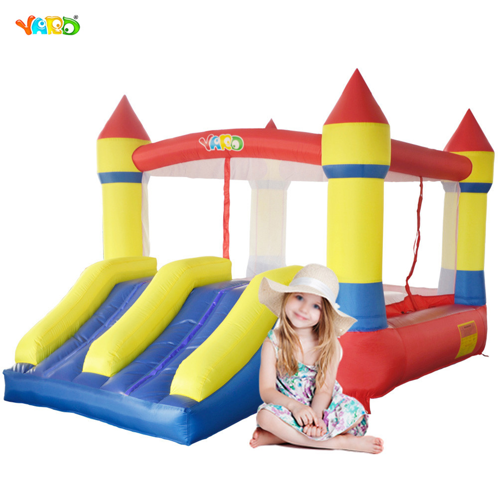 YARD Dual Slide Bounce House Inflatable Jumping Castle Bouncer With Blower inflatable slide with dual lanes pvc inflatable slide red giant inflatble bouncer