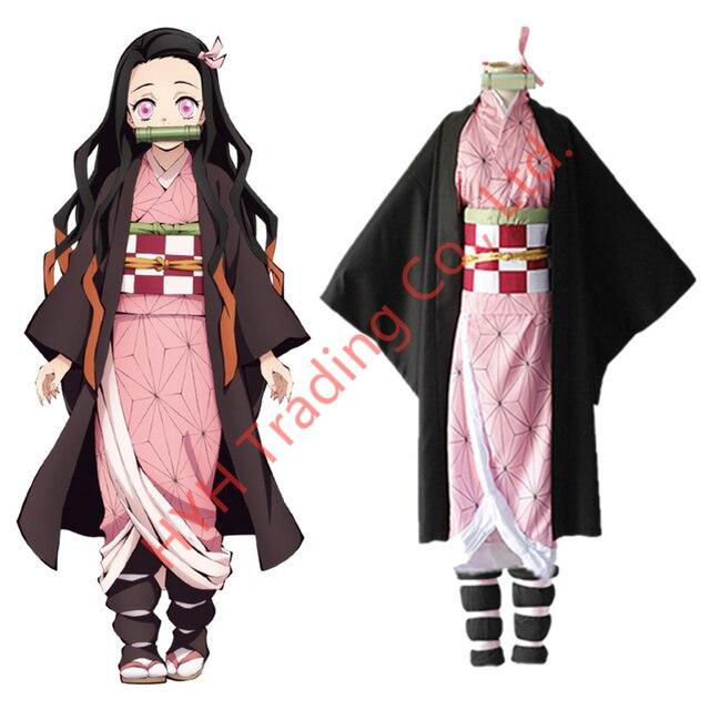 Женский костюм кимоно из аниме «рассекающий демонов»