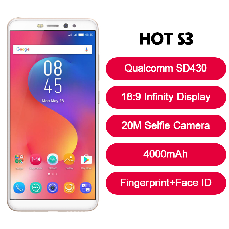 Infinix HOT S3 SmartPhone 20M Selfie Camera cell phone Android 8.0