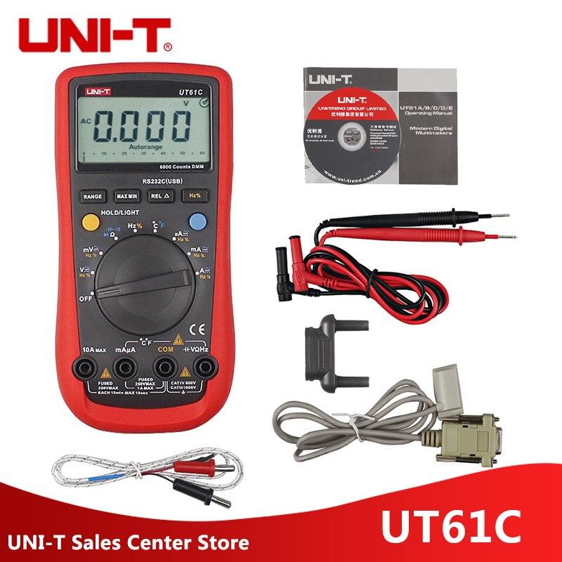 UNI-T UT61C Modern Digital Multimeter UT61C AC/DC Voltage Current Auto/Manual Range Meter With Back Light цена