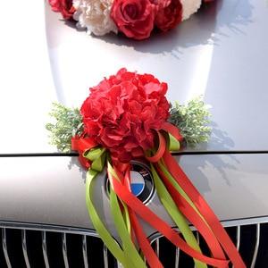 Image 3 - Kyunovia Hochzeit Auto Zubehör Auto Dach Schwanz Simulation Dekoration Hochzeit Auto Dekoration Blume KY131