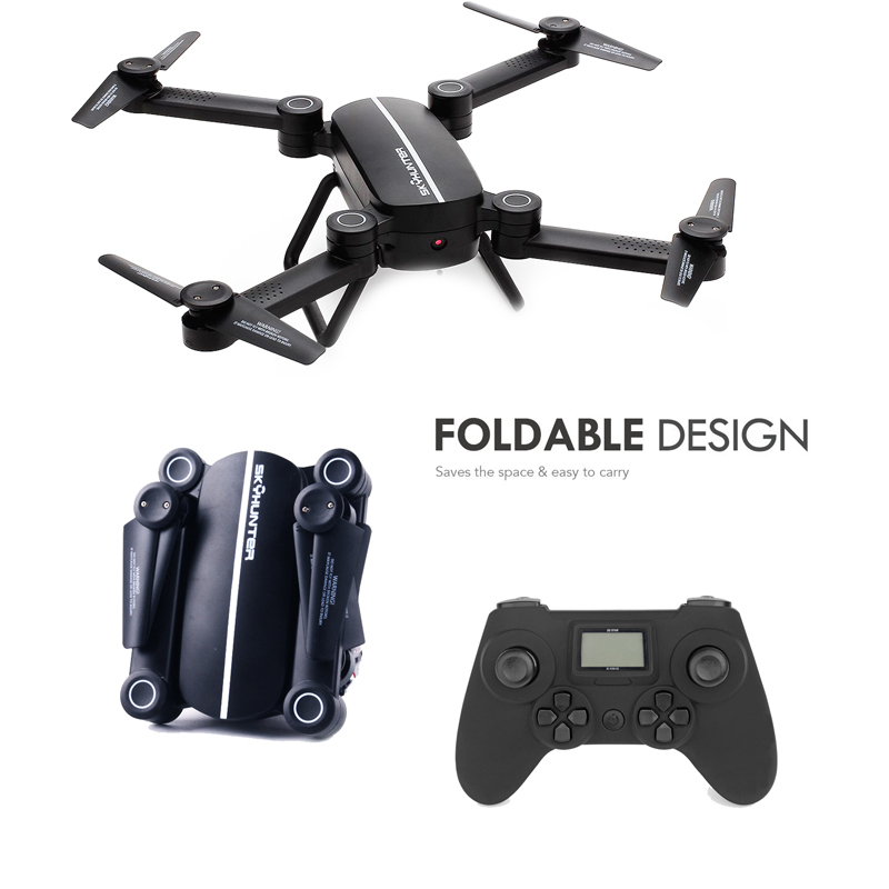 EBOYU(TM) X8T Sky Hunter Selfie Drones Foldable Drone 6 Axis 4CH RC Quadcopter Drone with Height Altitude Hold Headless Mode RTF eboyu 2 4ghz 4ch transmitter for jd 18tx jd 18 jy018 rc quadcopter foldable drone phone clip