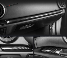 Yimaautotrims Central Control Instrument Panel Cover Trim For Audi A3 V8 2014 - 2019 Interior Mouldings ABS Carbon Fiber Look 1 pc carbon fiber car interior trim control panel stickers for audi q5 10 17
