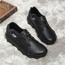 Женская обувь на плоской подошве; сезон лето; прошитая нить; поперечный ремешок; натуральная кожа; повседневная обувь для вождения; без застежки; однотонная женская обувь на платформе