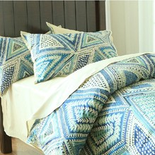 Vintage lovely long staple cotton bedding sets,twin full children cute geometric bedclothes bed linen pillow case quilt cover