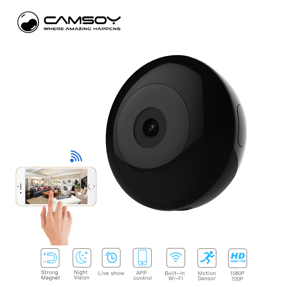 Camsoy C2 Mini Camera 720P Night Vision HD Camcorder IP P2P WiFi Video Camera Recorder For Outdoor Action Camera