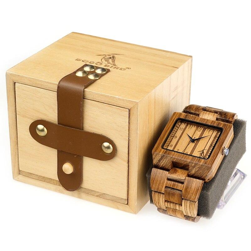 BOBO UCCELLO Orologi Mens Orologi di Legno relogio masculin in Contenitore di Regalo di Legno C-L24 Trasporto di Goccia