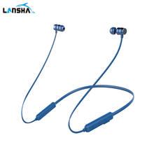 LANSHA X6 sport sans fil casque tour de cou à la sueur HiFi bluetooth écouteur pour un mobile téléphone CSR4.2 superlight casque