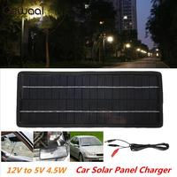 Solar Generator 4.5W 12V Portable Phone Charger Emergency Power Supply USB+DC Port+Car Charger Travel Solar Panel Durable