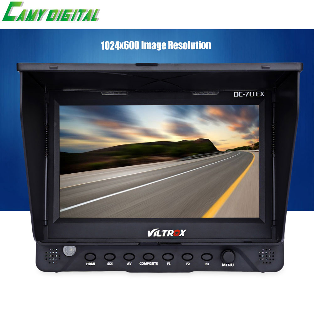 7'' Viltrox DC-70EX HD Clip-on HDMI/SDI/AV Input Output Camera Video LCD Monitor Display for Canon/Nikon/Pentax/Olympus,etc DSLR