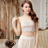 Leechee Ladies' Large Size Knit Lace Wrapped Breast Silk adjustable bottoming underwear No chest pad breathable sexy bra TGB 005