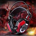 Free shipping black headset New Headphones noise isolating game Headphone and headset gamer high quality earphone Fast Shipping