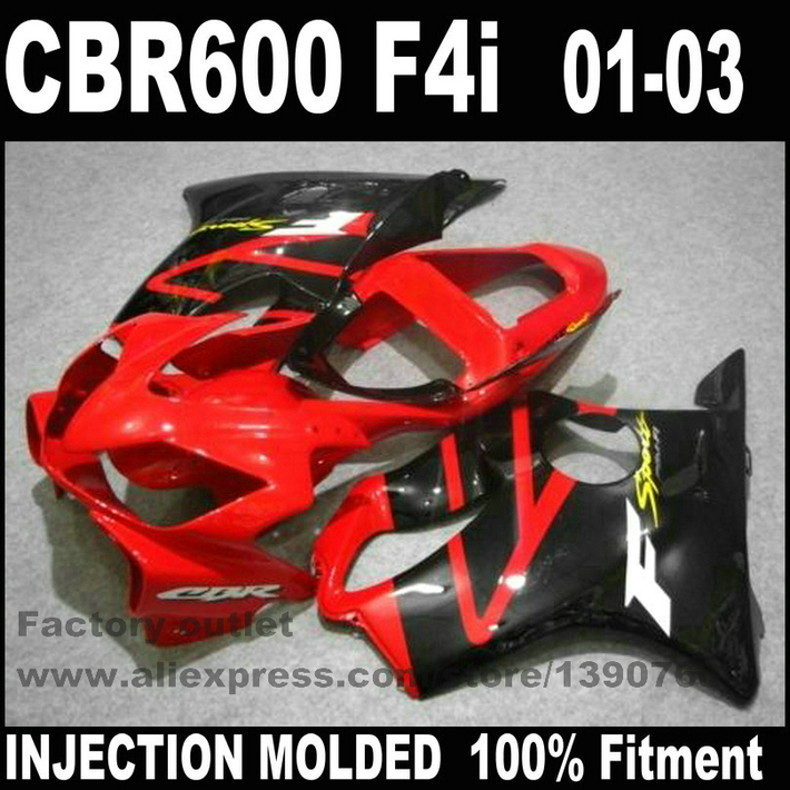 Motorcycle fairings for HONDA Injection molded CBR 600 F4i 01 02 03 CBR600 2001 2002 2003