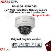 Hikvision Original English Version Surveillance Camera DS 2CD2142FWD IS CCTV Camera 4MP Dome IP Camera P2P