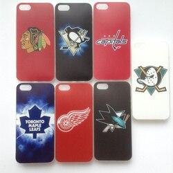 Doux TPU hockey sur Glace équipe Blackhawks Pingouins Capitales cas Coque Fundas couverture pour iPhone 5 s 5 SE 6 s 6 7 8 X XS Max XR Cas