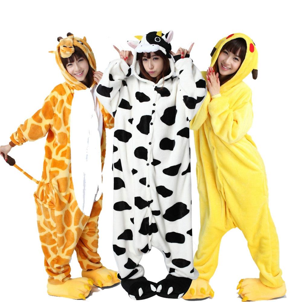 Large Size XXL Animal Kigurumi Adult Cartoon Pajamas Flannel Women Onesie  ... 7ea9cfd9ed