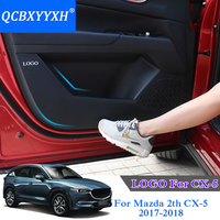 QCBXYYXH Car Styling Protector Side Edge Protection Pad Protected Anti Kick Door Mats Cover For Mazda