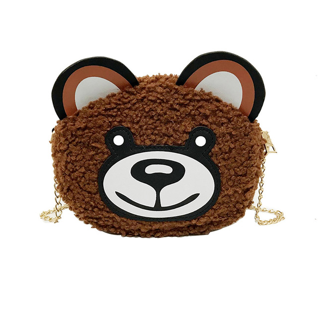 Cute Women Cartoon Wild Broadband Teddy Bear Crossbody Bag Plush Bear Bag  Girls Mini Purse Phone Money Bag Messenger Bags  Zer 16966ecf75