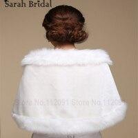 17017 White Ivory New Lady Ivory Faux Fur Wrap Wedding Shrug Bolero Stole Jacket Bridal Shawl