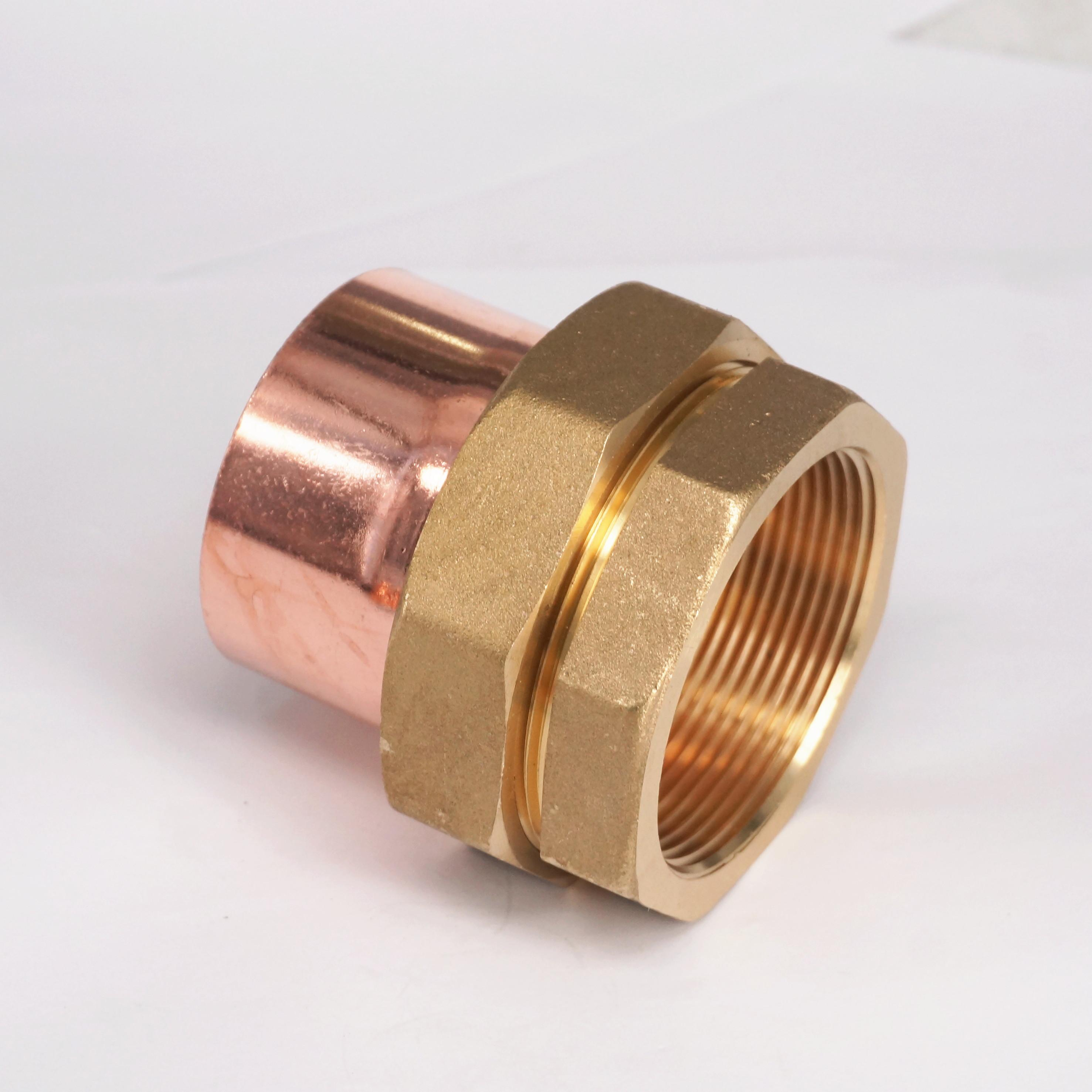 2 BSP x 54mm Brass Female Thread Socket Union to Copper End Feed Pipe Fitting for water gas oil brass pipe fitting connector coupler 45 deg 3 4 female bsp thread x 3 4 female bsp thread for water fuel gas