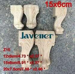 Z15-15x6 см из резного дерева аппликация плотник наклейка деревообрабатывающие плотник ноги Украшение стола