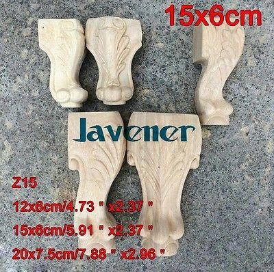 Z15-15x6 cm Madeira Esculpida Onlay Applique Decalque para Trabalhar Madeira Carpinteiro Carpinteiro Decoração de Mesa Perna