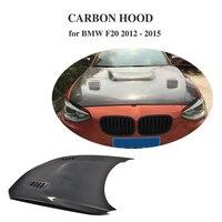For BMW F20 2012 2015 Auto Front Engine Bonnets Hood Cover Double Side / Singel Side Carbon Fiber