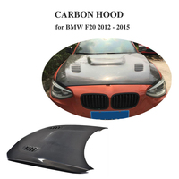 For BMW F20 2012 2015 Auto Front Engine Bonnets Hood Cover Double Side / Singel Side Carbon Fiber