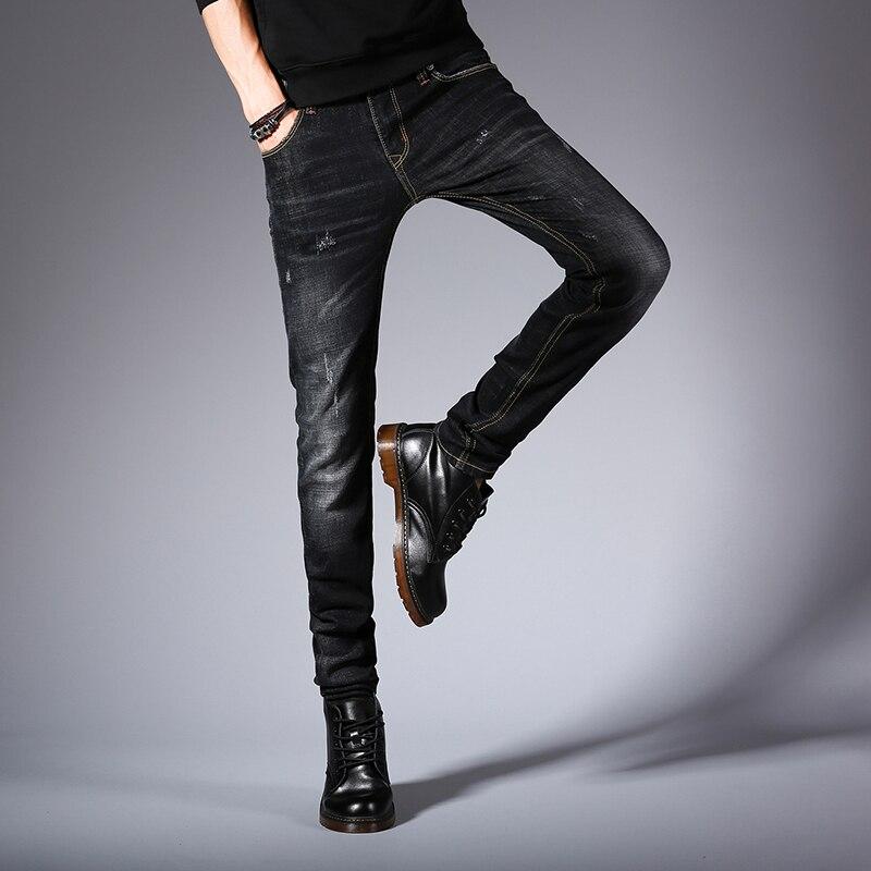 DUK hot sell men designer jeans black jeans men casual male jean skinny motorcycle high quality denim pants