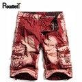 100% algodón de mezclilla de Los Hombres cargo shorts casual shorts junta brazo camuflaje carga bermudas pantalones cortos de playa